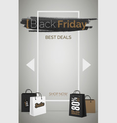 black friday best deals web banner template vector image