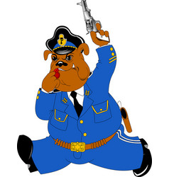 Bulldog policeman vector