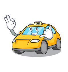 Call me taxi character mascot style vector