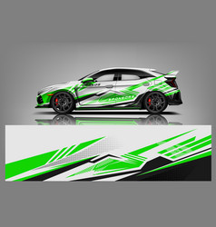 Car decal wrap design graphic abstract stripe vector