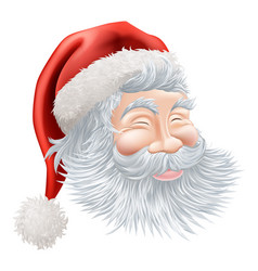 christmas santa claus face vector image