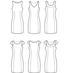 Classic dresses vector