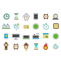 Clocks isolated icons set vector image