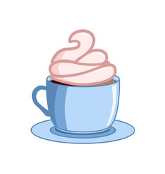 coffee with icecream coffee cups vector image