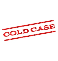 Cold Case Watermark Stamp vector