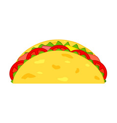 colorful cartoon taco vector image