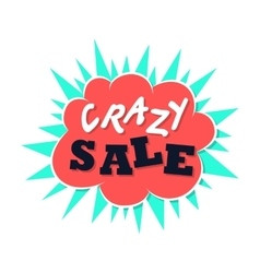 Crazy sale flat icon vector image