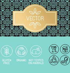 Design elements in trendy linear style vector