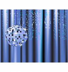 Disco ball curtains vector