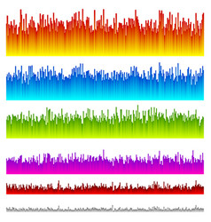 Eq equalizer lines with 5 vibrant colors 6 vector
