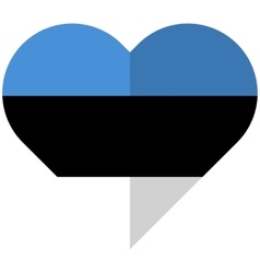 Estonia flat heart flag vector