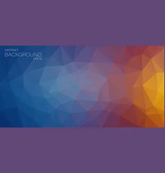 flat horizontal triangle background vector image