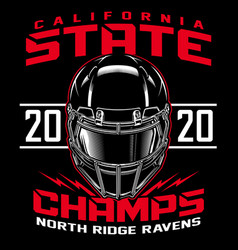 football state champs t-shirt graphic vector image