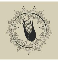 Fresh natural corn vector
