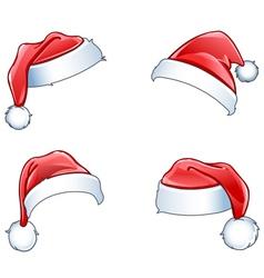 glossy santa hats vector image