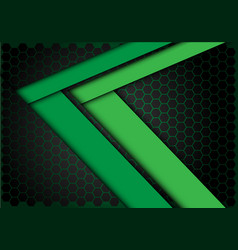 green arrow speed direction on hexagon mesh vector image