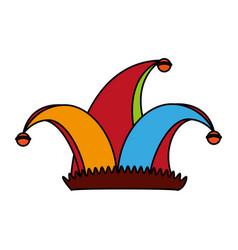 Harlequin hat icon image vector