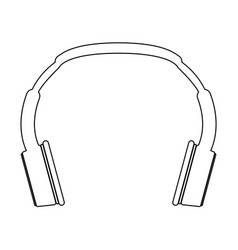 headphones the black color icon vector image