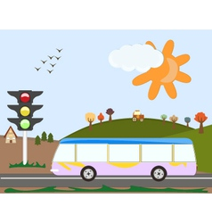 Holiday Bus vector image