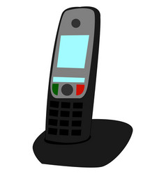 home phone on white background vector image