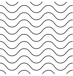 horizontal thin wavy lines seamless pattern vector image