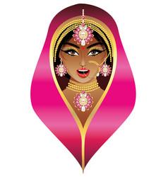 Indian bride portrait vector