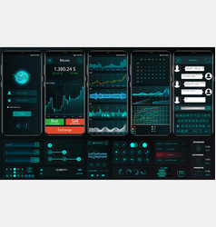 interface app template for trading platform ui ux vector image