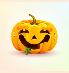 jack-o-lantern facial expression pumpkin with vector image