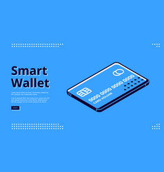 landing page smart wallet mobile payment vector image