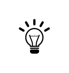 light sign ideas lightbulb web icon vector image