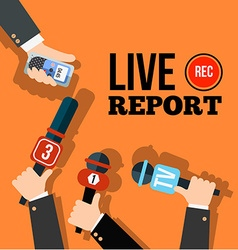 Live news concept vector image