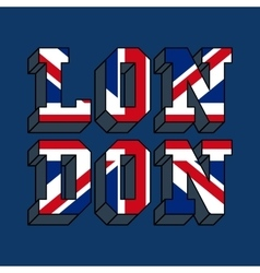 london typography t-shirt graphics vector image