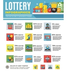 Lottery Infographics Set vector