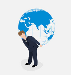 Man carrying the world vector image