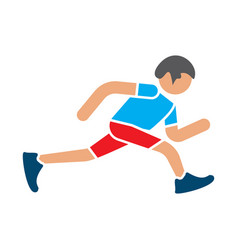 man runner jogger running icon vector image