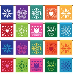 mexican papel bunting vector image