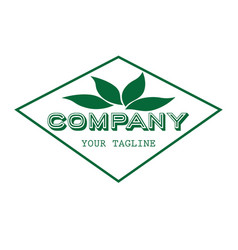 nature logo design vector image