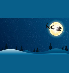 night of the christmas vector image