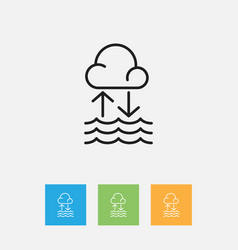 Of air symbol on water cycle vector