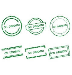 On demand stamps vector