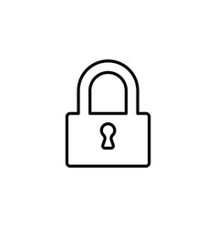padlock line icon black vector image