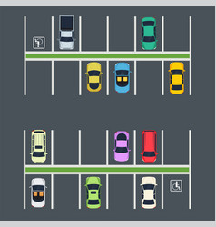 parking place with cars vector image