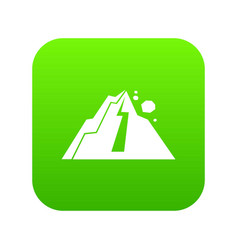 Rockfall icon digital green vector