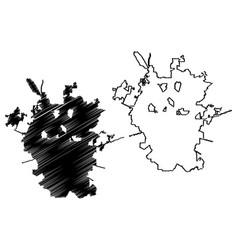 San antonio city map vector