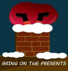 Santa Brings Presents vector image