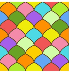 Seamless pattern made of rainbow colored scales vector image