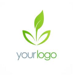 Seed organic leaf logo vector