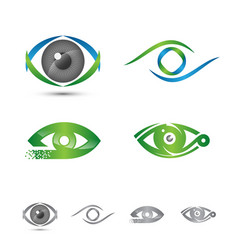 Set of logos and icons of eye logo concept vector