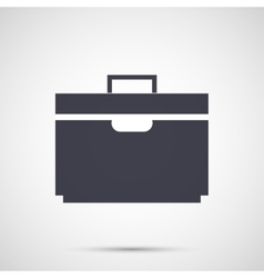 Simple design icons suitcase vector image