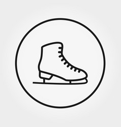 skates icon editable thin vector image